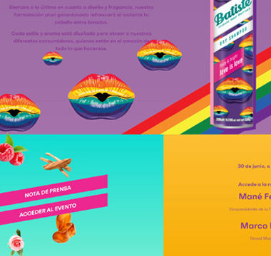 Batiste: Web Presentación Nuevo Producto